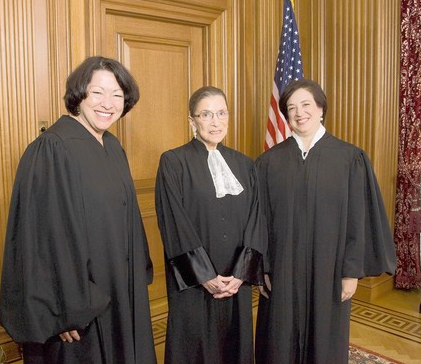 Female Supreme Court Justices Which Exempts Christian College from Contraception Under Obamacare