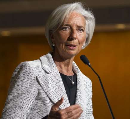 International Monetary Fund Managing Director Gives Global Ecomonic Forecast