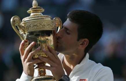 Novak Djokovic defeated Roger Federer at Wimbledon
