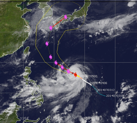 Super Typhoon Neoguri Heading Towards Japan