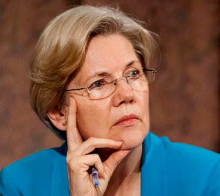 Liberals Support of Elizabeth Warren vs. HillaryClinton