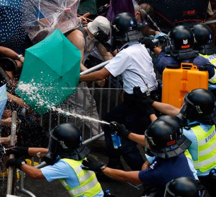 Hong Kong Police Begin to Take StrongerStance