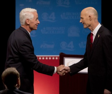 Florida Governor's Debate Heated and Strange at the Same Time